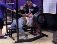 VIDEO: 15-year-old female weightlifter Mahailya Reeves benches 380 pounds