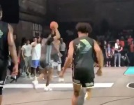 VIDEO: Skyy Clark tossed a midcourt bounce pass assist to Niven Glover