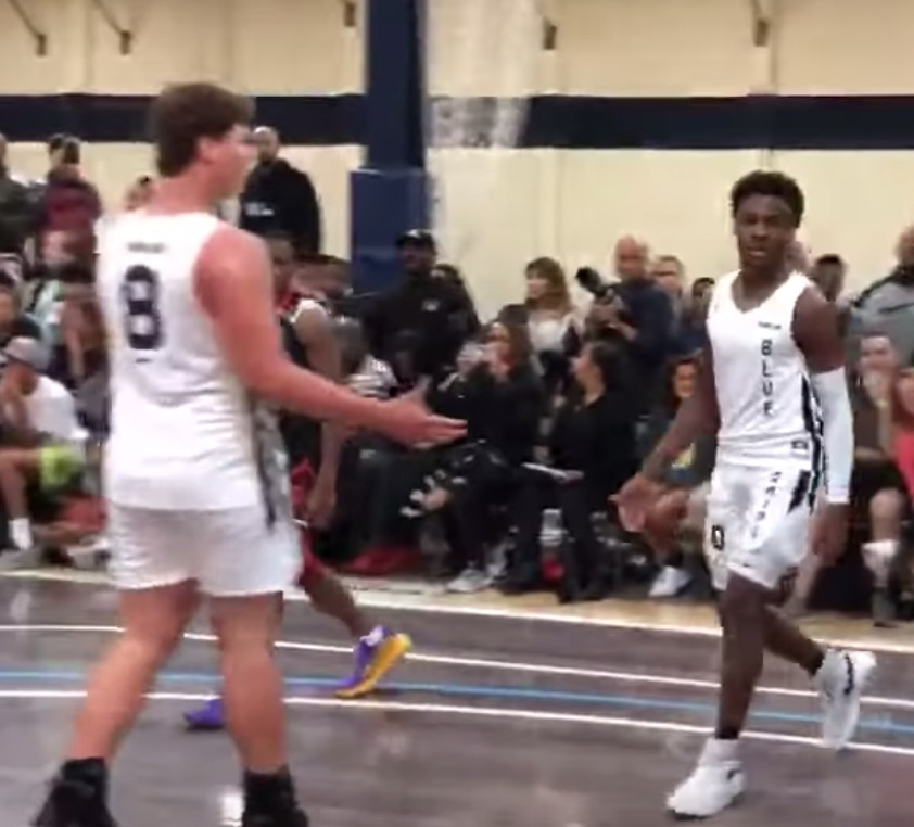 Bronny James' AAU team is first to land