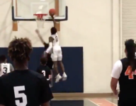 VIDEO: Watch Bronny James channel LeBron with amazing chase down block