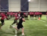 VIDEO: Va. high school RB Jared Cole waves goodbye to defenders he dumped in The Opening drill