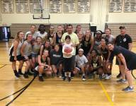 Adam Sandler stops by New Jersey high school to shoot hoops before gig