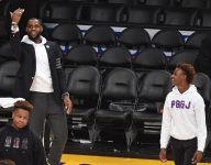 LeBron James goes nuts over Bronny dunk at Vegas tournament