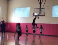 VIDEO: Former NFL WR Nate Burleson breaks backboard on dunk during father-daughter game