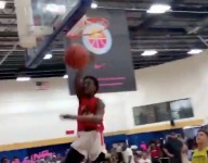 WATCH: Bronny James dunks in-game at Balling on the Beach AAU tourney