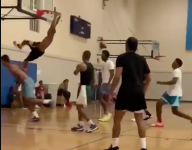 VIDEO: Shaqir O'Neal dunks over his brother, UCLA's Shareef O'Neal in Shaq son battle