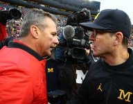 What one big-time recruiter says about another: Harbaugh: 'controversy follows' Urban Meyer