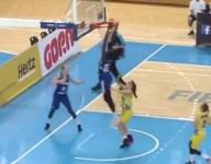 WATCH: 17-year-old Finnish girls basketball star Awak Kuier tried to dunk an off-backboard assist