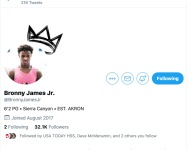 Was this tweet of Bronny James in a Duke jersey actually sent by LeBron James Jr.?