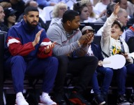 Drake wears Bronny James jersey for 'Money in the Grave' music video