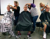 As teammate battles cancer, Indiana HS teammates shave heads in support