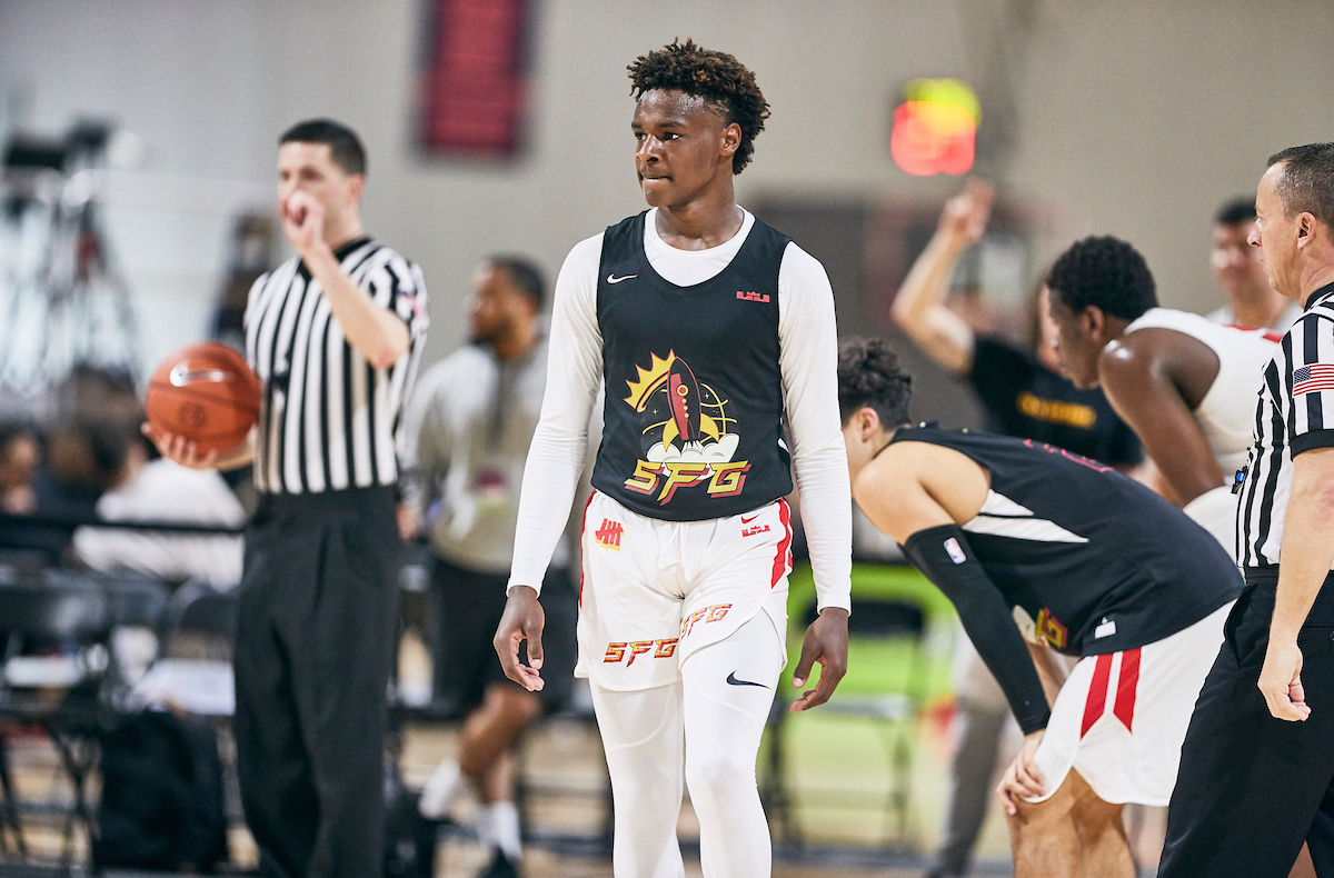 Bronny James ranked 30th in 247Sports