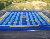 Return of high school football in New York means coming debut of a psychedelic blue field