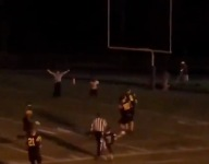 WATCH: N.C. high school wide receiver catches touchdown pass after lights cut out mid-pass