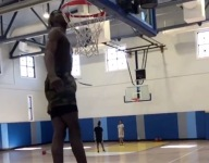 WATCH: Moussa Cisse, Class of 2021 Chosen 25 PF, gets so high he bumps his chin on the rim