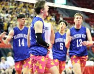 Waukesha West goes with duck shorts for Wisconsin boys state volleyball tournament